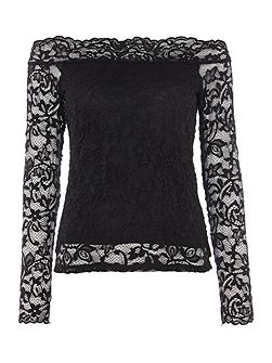 Vmcoc long sleeve lace bardot top