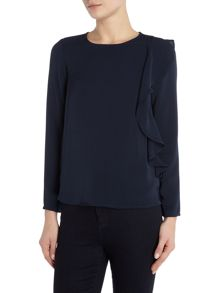 Vero Moda Long Sleeve Frill Side Top