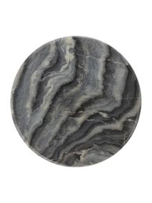 Gray & Willow Dark marble lazy susan