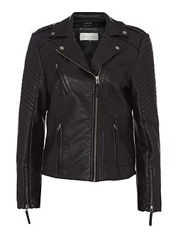 Cliff Faux Leather Jacket