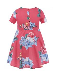 Joules Girl`s Short Sleeve Floral Dress
