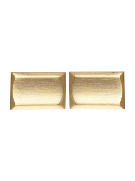 Noose and Monkey Plain Gold Rectangle Cufflinks