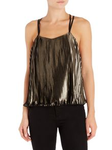 LYDC Sleeveless Pleated Cami Top