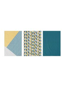 Linea Geo set of 3 tea towels