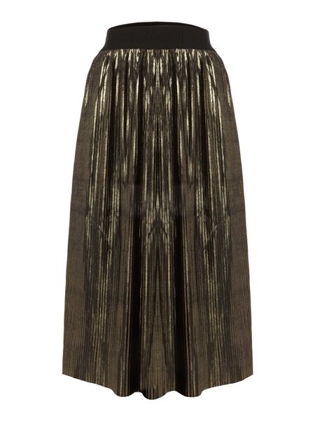 LYDC Waisted Pleated Shift Skirt