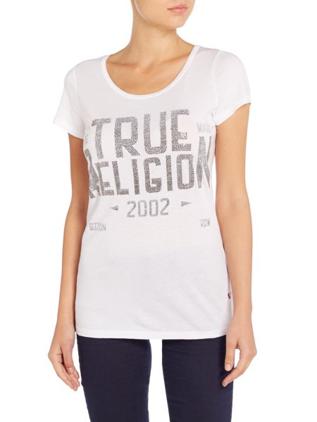 True Religion Crew neck logo t-shirt