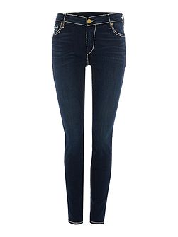 Halle Mid Rise Super Skinny Jean in Shady