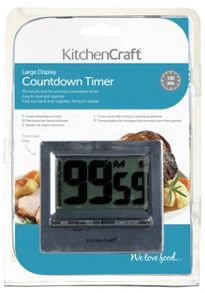 Kitchen Craft Large Easy Read Chromed Timer