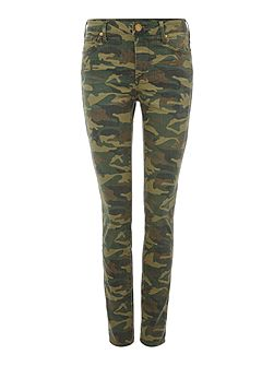 Halle mid rise camo skinny jean