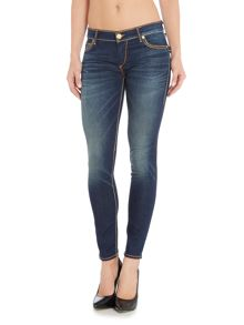 True Religion Casey Super T Skinny jean in smokey waters