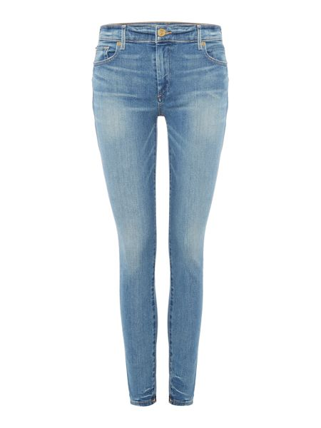 True Religion Halle mid rise super skinny in gypset blue