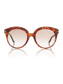 Tom Ford Sunglasses Brown Ft0429 Monica rectangle sunglasses