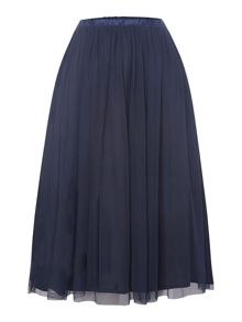 Lace and Beads Full Midi Skirt