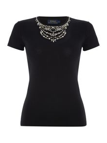 Polo Ralph Lauren JEWEL TEE- SHORT SLEEVE KNIT