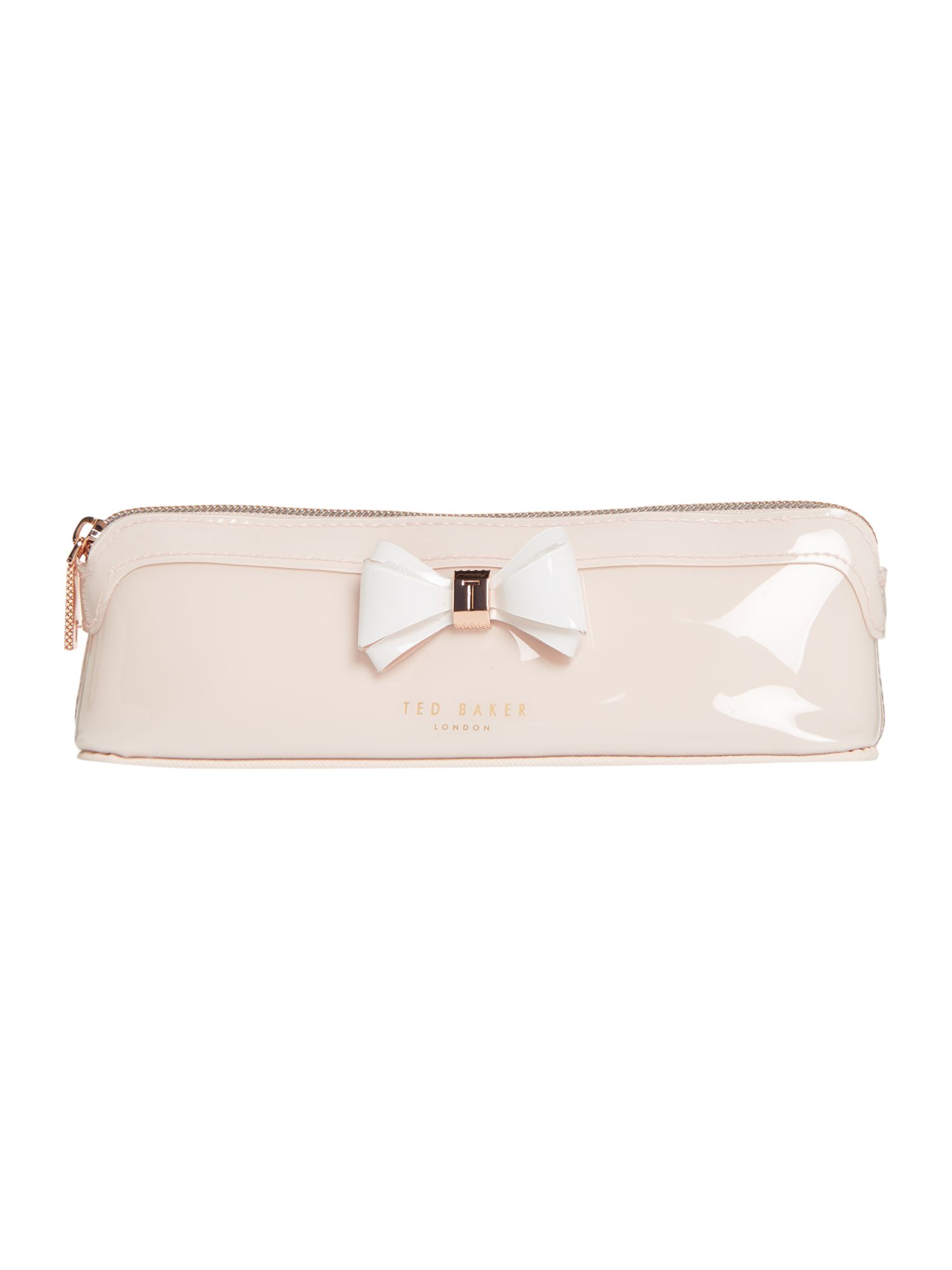 Ted Baker Alister pink bow pencil case, Pink