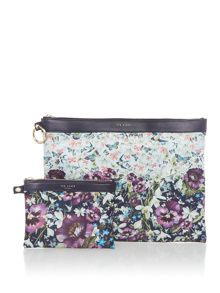 Ted Baker Romy enchantment nylon pouch