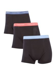 Calvin Klein 3 Pack SMU Contrast Cotton Stretch Trunks