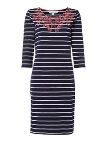 Dickins & Jones Esther Embroidered Jersey Dress