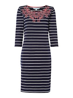 Esther Embroidered Jersey Dress