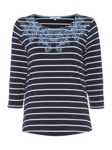 Dickins & Jones Amelia Embroidered Jersey Top