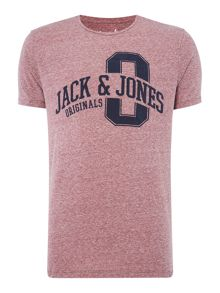 Jack & Jones Cotton Large-Logo Short-Sleeve T-shirt