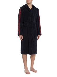 Emporio Armani Arm Logo Hooded Robe