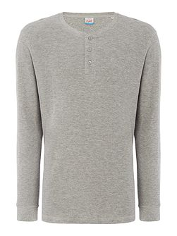 Cotton Plain Crew-Neck Long-Sleeve T-shirt