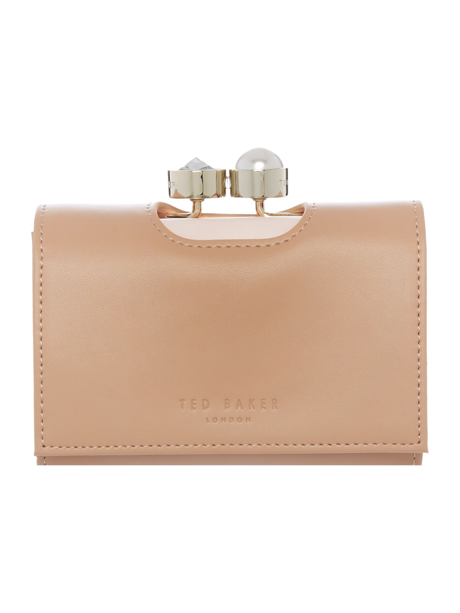 Ted Baker Helga leather coin purse Neutral
