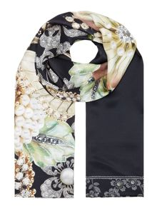 Ted Baker Gem gardens long silk scarf
