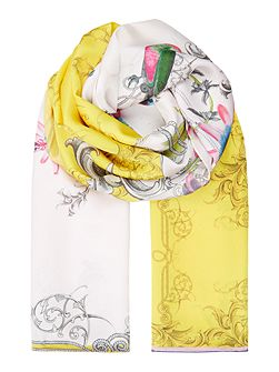 Passion flower long scarf