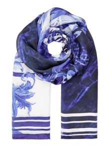 Ted Baker Persian blue long silk scarf
