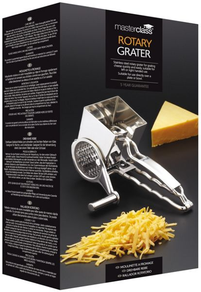 Masterclass Deluxe Stainless Steel Rotary Cheese Grater