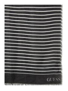 Guess Striped long scarf