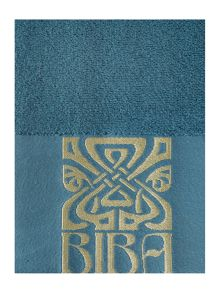 Biba Embroidered Border Towel Teal