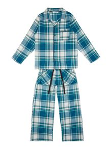 Minijammies Boys Checked Cotton Pyjamas