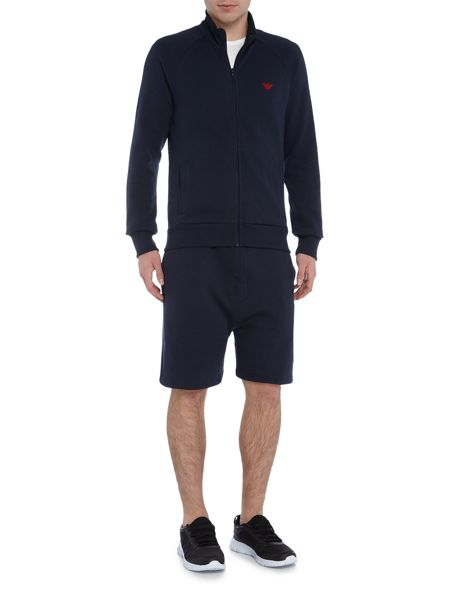 Emporio Armani Back Logo Zip Up Jumper