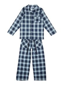 Minijammies Boys Brushed Cotton Check Pyjamas