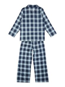 Minijammies Boy`s PJ Brushed Check Long Sleeve