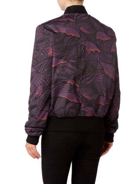 Hunter Original wave print insulated bomber