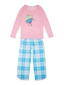 Minijammies Girls Balloon Long Sleeve PJ Set