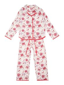 Minijammies Girls Flower Print Pyjama Set
