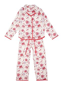 Girls Flower Print Pyjama Set
