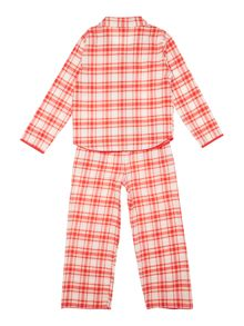 Minijammies Girls Checked Cotton Pyjamas
