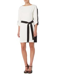 Marella SIDNEY colour block shoft dress with belt