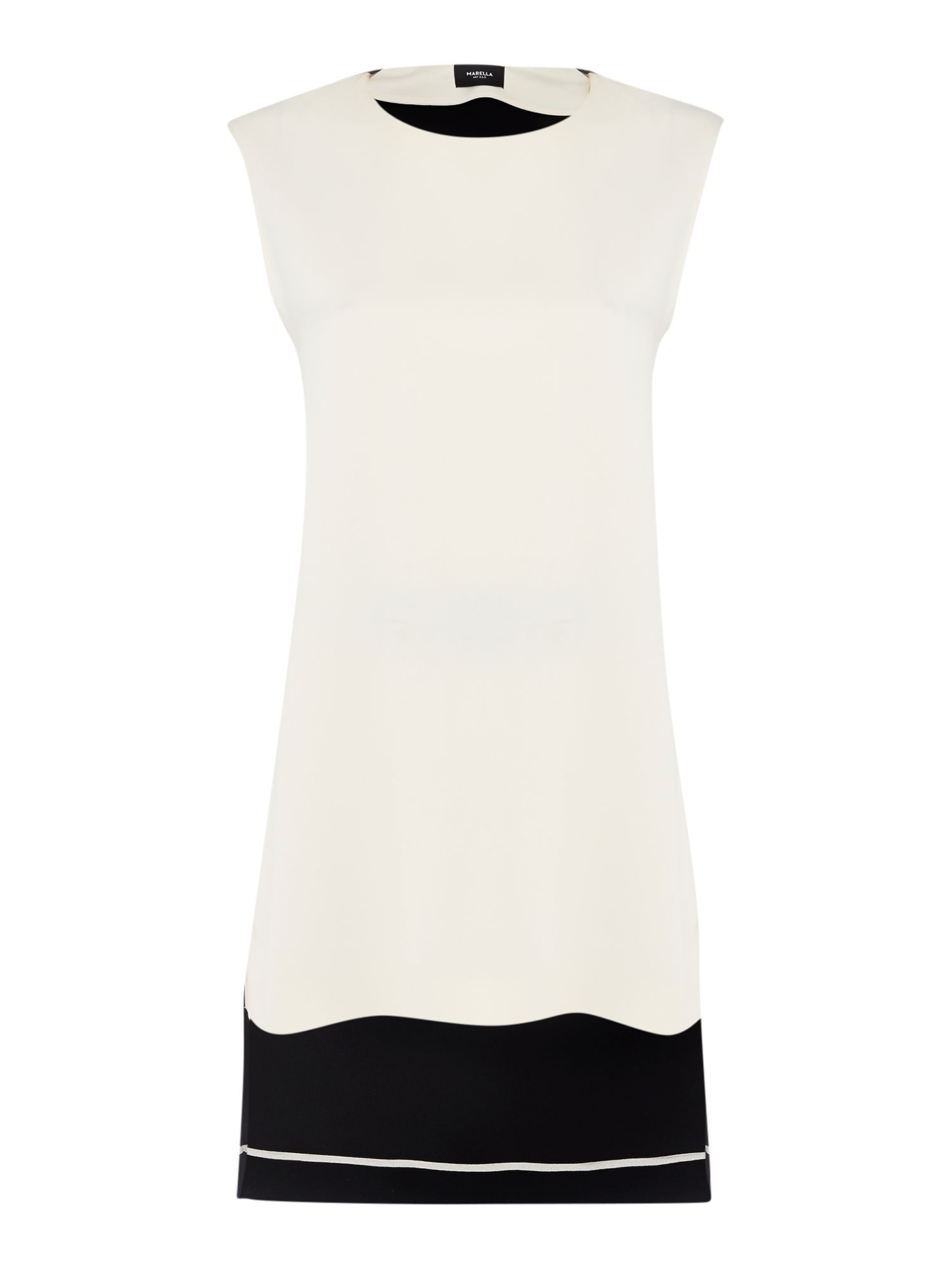 Marella LYON Colour block tunic with belt, Black