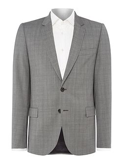 Wool Slim Fit Prince of Wales Checked Suit
