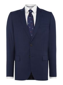 PS By Paul Smith Wool Checked Suit Jacket
