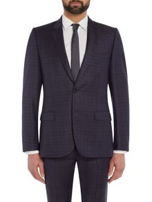 PS By Paul Smith Shadow Checked Slim Fit Suit Jacket