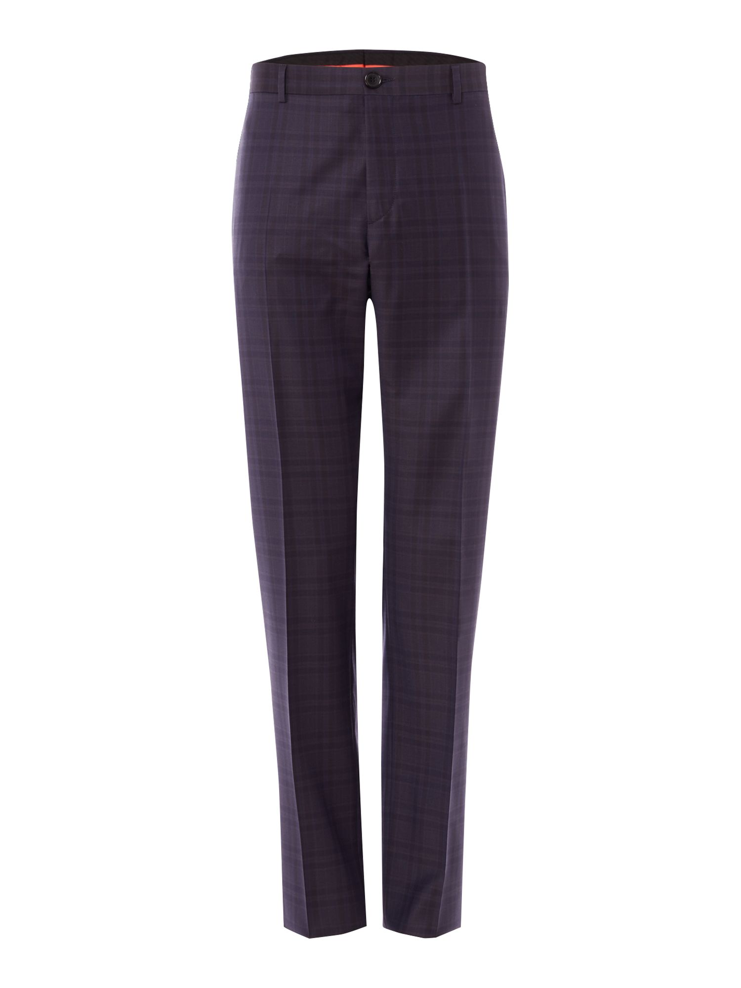 Men's PS By Paul Smith Shadow Checked Wool Suit Trousers, Blue
