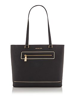 Frame out item black large tote bag
